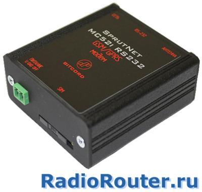 Сотовый GSM  беспроводной модем BitCord SprutNet MC52i RS232 с последовательным интерфейсом RS-232
