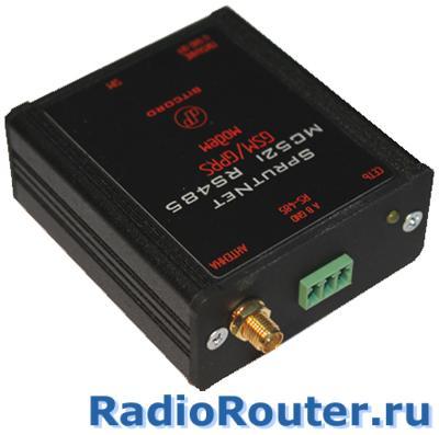 Сотовый GSM  беспроводной модем BitCord SprutNet MC52i RS485 с последовательным интерфейсом RS-485