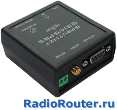 Сотовый GSM  беспроводной модем BitCord SprutNet RS232 (комплект) с портом RS-232